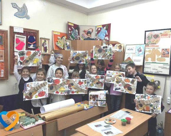 "The action «Kids Art Support». master class ""Drawing as a genius"""