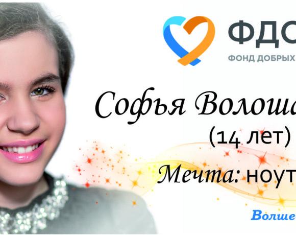 Исполним мечту талантливой Софьи Волошаненко