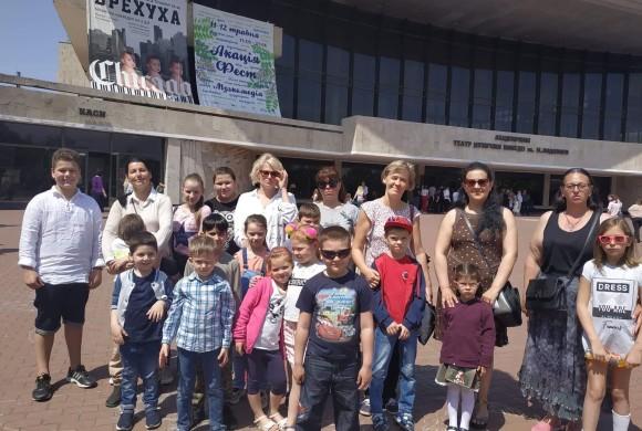 Поход в Театр Музыкальной Комедии детей из многодетных и малоимущих семей